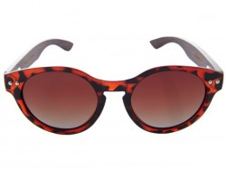 Polarized Wood Sunglasses - Red Turtle