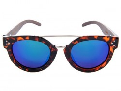 Gafas de Sol de Madera - Blue Blowfish