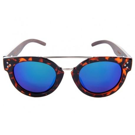 Polarized Wood Sunglasses - Blue Blowfish