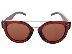 Polarized Wood Sunglasses - Brown Stingray