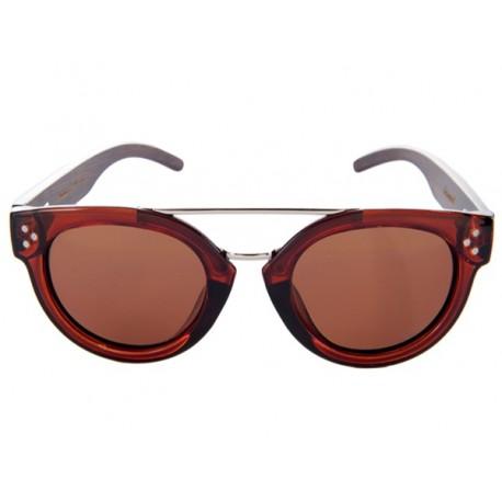 Polarized Wood Sunglasses - Brown Stingray