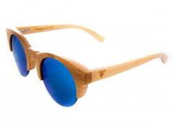 Gafas de sol de madera Blue Owl