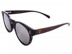 Gafas de Sol de Madera - Silver Caiman