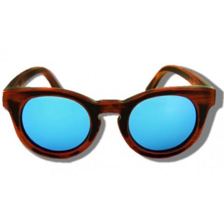 Gafas de Sol de Madera - Blue Cheetah