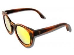 Polarized Wooden Sunglasses - Yellow Cheetah