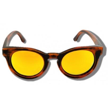 Gafas de Sol de Madera - Yellow Cheetah