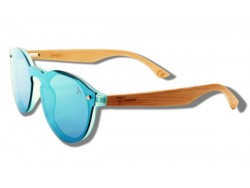 Green Toucan - Wooden Sunglasses