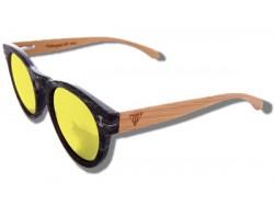 Gafas de Sol de Madera - Yellow Caiman
