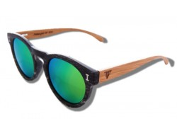 Polarized Wood Sunglasses - Green Caiman