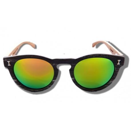 Polarized Wood Sunglasses - Green Caiman