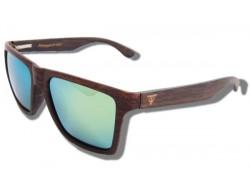 Polarized Wood Sunglasses - Green Mamba