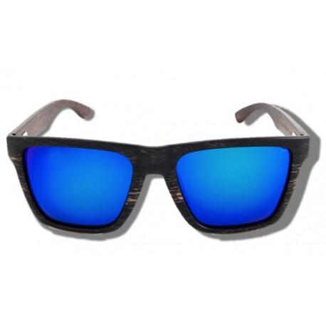 Gafas de Sol de Madera - Blue Mamba