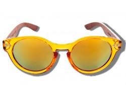 Gafas de Sol de Madera - Yellow Seahorse