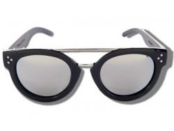Polarized Wood Sunglasses - Silver Shark