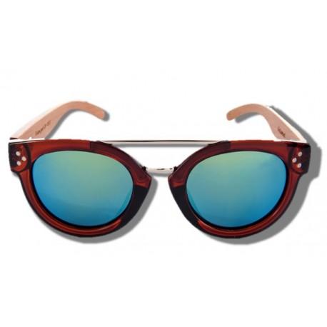 Polarized Wood Sunglasses - Blue Stingray