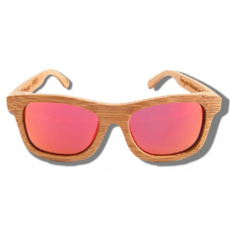 Gafas de Sol de Madera - Orange Lion