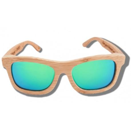 Gafas de Sol de Madera - Green Lion