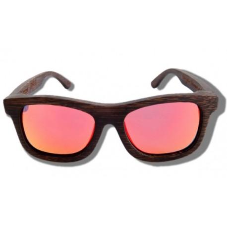 Gafas de Sol de Madera - Orange Grizzly