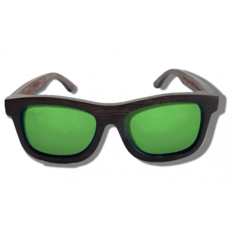 Gafas de Sol de Madera - Green Grizzly
