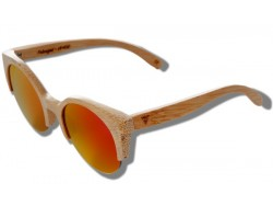 Polarized Wood Sunglasses - Orange Lynx