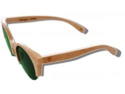 Polarized Wood Sunglasses - Green Lynx