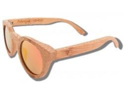 Polarized Wood Sunglasses - Orange Tiger