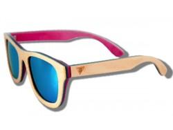 Polarized Wooden Sunglasses - Beige Chameleon