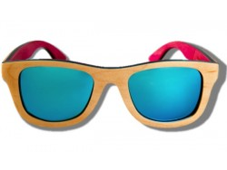 Polarized Wooden Sunglasses - Beige Chameleon