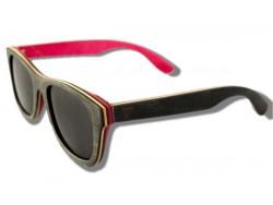 Polarized Wooden Sunglasses - Black Chameleon