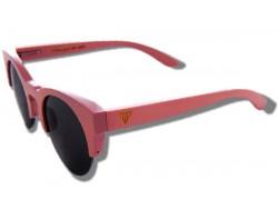 Polarized Wooden Sunglasses - Pink Owl
