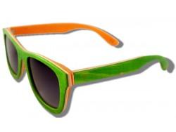 Polarized Wooden Sunglasses - Green Chameleon