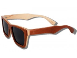 Polarized Wooden Sunglasses - Golden Arrow Frog