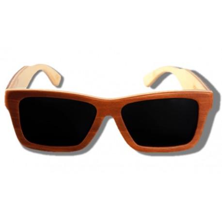 Gafas de Sol de Madera - Golden Arrow Frog