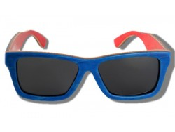 Gafas de Sol de Madera - Blue Arrow Frog
