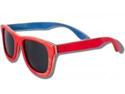 Polarized Wood Sunglasses - Red Chameleon