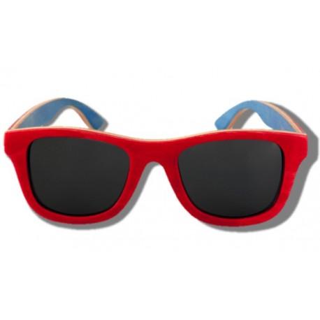 Gafas de Sol de Madera - Red Chameleon