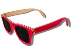 Polarized Wooden Sunglasses - Flamingo