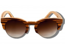 Polarized Wooden Sunglasses - Zebra