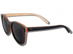 Polarized Wooden Sunglasses -  Black Dragonfly