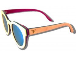 Polarized Wooden Sunglasses - Butterfly