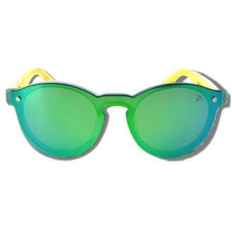 Green Toucan - Wooden Sunglasses