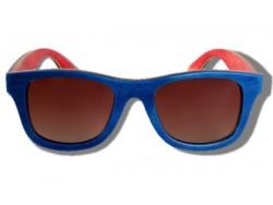 Gafas de Sol de Madera - Blue Chameleon