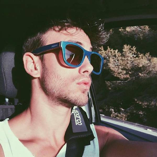 Gafas de sol de madera Blue Cheetah Sergio Carvajal - Modelo