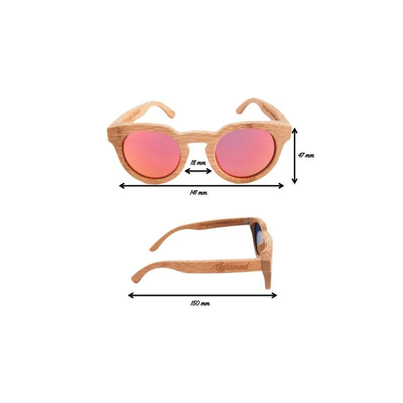 cca9da6778 ... Polarized Wood Sunglasses - Orange Tiger