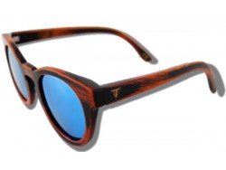 Polarized Wooden Sunglasses - Blue Cheetah