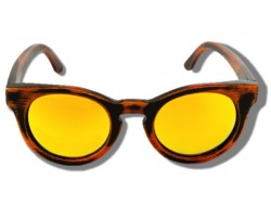 Polarized Wooden Sunglasses - Yellow Cheetah