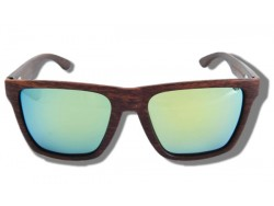 Polarized Wood Sunglasses - Green Mamba
