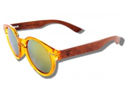 Polarized Wood Sunglasses - Yellow Seahorse