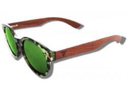 Gafas de Sol de Madera - Green Turtle