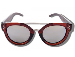 Polarized Wood Sunglasses - Silver Blowfish